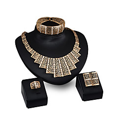 cheap Jewelry Sets-Women's Jewelry Set - Rhinestone, Gold Plated Personalized, Fashion Include Pendant Necklace Gold For Party / Evening Party