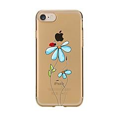 Недорогие Кейсы для iPhone 4s / 4-Кейс для Назначение Apple iPhone 7 Plus iPhone 7 С узором Кейс на заднюю панель Цветы Мягкий ТПУ для iPhone 7 Plus iPhone 7 iPhone 6s