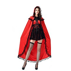 Fairytale Cosplay Cosplay Costumes Masquerade Female Halloween Carnival Festival/Holiday Halloween Costumes Red+Black Vintage