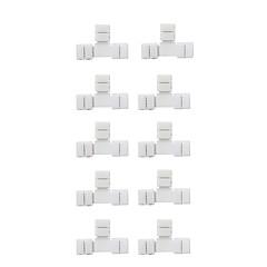 Connecteur de barre LED à 5 broches en T en forme de 10pcs pour bandes souples flexibles de 50 000 rgb de 10 mm