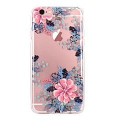 Para iPhone X iPhone 8 Case Tampa Ultra-Fina Transparente Estampada Capa Traseira Capinha Flor Macia PUT para Apple iPhone X iPhone 8