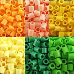 약 500PCS / 가방 5mm 퓨즈 비즈 하마 비즈 아이를위한 DIY 퍼즐 EVA 소재의 추구한다 (모듬 6 색, B17-B24)