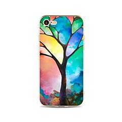 Case for iphone 7 plus 7 cover átlátszó mintás hátlap burkolat színátmenetes fa puha tpu apple iphone 6s plus 6 plusz 6s 6 se 5s 5c 5 4s 4