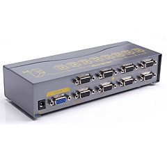 DTech VGA Splitter VGA to VGA Splitter Female - Female 1080P One Input Eight Output