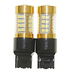 Недорогие Фары для мотоциклов-Sencart 2pcs 7440 w21w w3x16d мигающая лампочка светодиодный фонарик автомобиля поворота заднего фонаря (белый / красный / синий / теплый