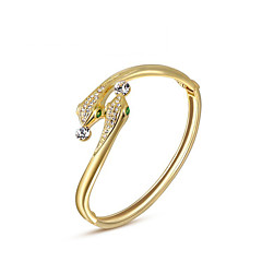 Dames Bedelarmbanden Bangles Uniek ontwerp Modieus Kristal Legering Sieraden Slang Gouden Sieraden Voor Bruiloft Feest Dagelijks 1 stuks