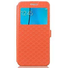Недорогие Чехлы и кейсы для Galaxy Note 5-Кейс для Назначение SSamsung Galaxy Бумажник для карт со стендом Флип Рельефный Чехол Геометрический рисунок Твердый Кожа PU для Note 5