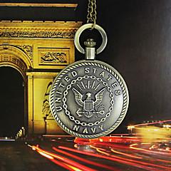 Herre Dame Lommeure Quartz Legering Bånd Bronze