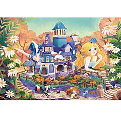 تركيب ألعاب قصر بناء مشهور معمارية كرتون وردة للجنسين قطع