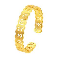 Муж. Жен. Браслет разомкнутое кольцо Мода Винтаж По заказу покупателя Pоскошные ювелирные изделия Позолота Круглой формы Музыкальные ноты
