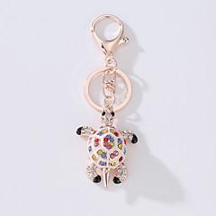 お買い得  キーホルダー-カメ キーチェーン ゴールド イミテーションダイヤモンド, 合金 ファッション, かわいいスタイル 用途