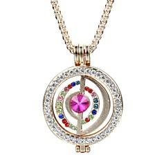 Damskie Naszyjniki z wisiorkami Kryształ Rhinestone Round Shape MOON Kryształ Stop Modny Osobiste Elegancki Biżuteria NaCodzienny Casual