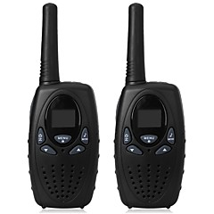 1 Watt long range black 2pcs walkie talkie radio scanner FRS GMRS 2 way CB radios UHF PTT VOX transmitter PMR for kids