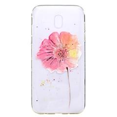 Caso para la galaxia j7 2017 de Samsung galaxia 2017 caja de la cubierta del caso de la flor del tpu de la cubierta del caso de la alta