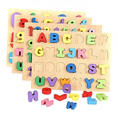 Juguete Educativo Puzzle Juguetes Rectangular Número Letra Niños Niñas Piezas