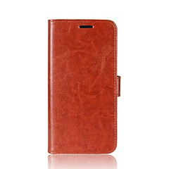 お買い得  その他のケース-ケース 用途 Asus カードホルダー ウォレット スタンド付き フリップ 磁石バックル フルボディーケース 純色 ハード PUレザー のために Asus Zenfone 4 ZE554KL Asus Zenfone 4 MAX ZC554KL