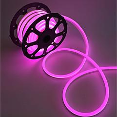 お買い得  LED ストリングライト-フレキシブルLEDライトストリップ 240 LED 温白色 ホワイト ピンク グリーン イエロー ブルー レッド カット可能 防水 接続可 220V
