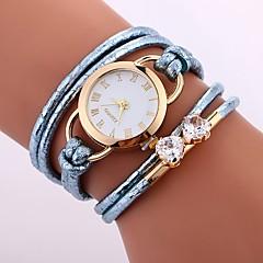 preiswerte Damenuhren-Damen Armband-Uhr Quartz Wasserdicht Kreativ PU Band Analog Freizeit Modisch Elegant Weiß / Blau / Rot - Rot Blau Rosa / Edelstahl