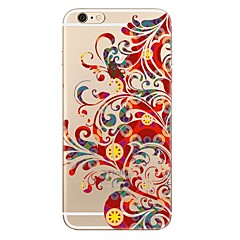 cheap iPhone 5S / SE Cases-Case For Apple iPhone 7 Plus iPhone 7 Transparent Pattern Back Cover Flower Soft TPU for iPhone 7 Plus iPhone 7 iPhone 6s Plus iPhone 6s