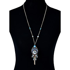 preiswerte Halsketten-Damen Quaste / Glasperlen Statement Ketten - Leder Blume Luxus, Quaste, Böhmische Handgemacht Gold Modische Halsketten Schmuck Für Hochzeit, Party, Neues Baby