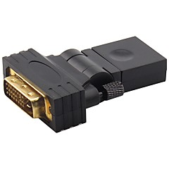 DVI Адаптер, DVI to HDMI 1.4 Адаптер Male - Female Позолоченная медь