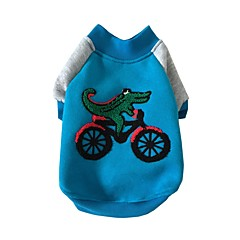 voordelige Hondenkleding & -accessoires-Hond Sweatshirt Hondenkleding Casual/Dagelijks dier Geel Blauw Kostuum Voor huisdieren
