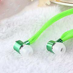 høy stereo hodetelefon i øret metall øretelefon håndfri hodetelefoner med mikrofon 3,5 mm ørepluggene for spilleren samsung iphone