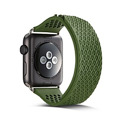 38 / 42mm siliconen lijm automatische zuig sportband voor appelwatch serie 1/2