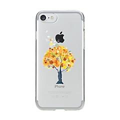 Недорогие Кейсы для iPhone 4s / 4-Кейс для Назначение Apple iPhone 7 Plus iPhone 7 Прозрачный С узором Кейс на заднюю панель дерево Мягкий ТПУ для iPhone 7 Plus iPhone 7