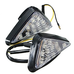 baratos -Ziqiao 1 par motocicleta clear flush mount luz de sinal de mudança de luz led iluminação âmbar luzes intermitentes piscando iluminação