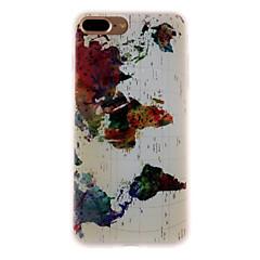 Χαμηλού Κόστους Θήκες iPhone-Περίπτωση για iphone μήλο 7 7 plus κάλυψη περίπτωσης μοτίβο χάρτη 3d ανακούφιση γάλα tpu περίπτωση τηλέφωνο τηλέφωνο για iphone 6s 6 plus