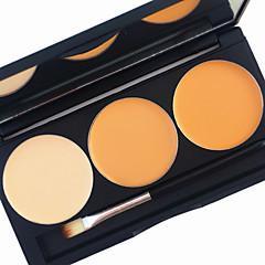 voordelige -pro 3 kleur bloos blusher contour kit 2in1 concealer bronzer stichting heldere mat crème make-up palet kwast spiegel