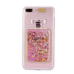 billige iPhone-etuier-Etui Til Apple iPhone 8 iPhone 8 Plus Flydende væske Blinkende LED-lys Mønster Bagcover Glitterskin Blødt TPU for iPhone 8 Plus iPhone 8