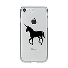 Недорогие Кейсы для iPhone-Кейс для Назначение Apple iPhone 7 / iPhone 7 Plus Прозрачный / С узором Кейс на заднюю панель единорогом Мягкий ТПУ для iPhone 7 Plus / iPhone 7 / iPhone 6s Plus