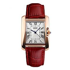 SKMEI Mulheres Relógio de Moda Relógio de Pulso Japanês Quartzo Impermeável Mostrador Grande Couro Legitimo Banda Legal Casual Preta