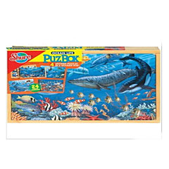 Bildungsspielsachen Holzpuzzle Spielzeuge Rabbit Fische andere friut Unisex Stücke