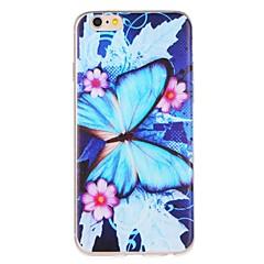 Недорогие Кейсы для iPhone 6 Plus-Кейс для Назначение Apple iPhone 7 Plus iPhone 7 С узором Кейс на заднюю панель Бабочка Цветы Мягкий ТПУ для iPhone 7 Plus iPhone 7