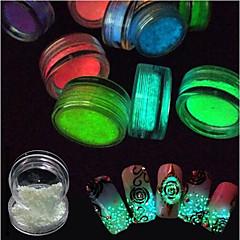 少女、ヤングレディー 発光性 3D フラッシュ DIYサプライ パウダー ネイルサロンツールハンドレスト