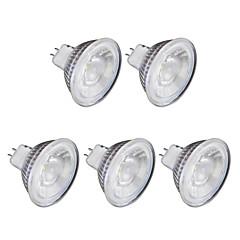 お買い得  LED 電球-5個 6W 1lm GU10 LEDスポットライト MR16 1 LEDビーズ COB 温白色 クールホワイト 220V