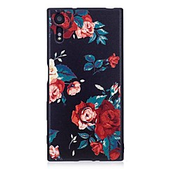 Case for Sony Xperia XA1 XZ Cover Embossed Pattern Back Cover Case Flower Soft TPU
