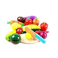 Χαμηλού Κόστους -Παιχνίδια ρόλων Σετ παιχνιδιών Κουζίνα Παιχνίδια Λαχανικά friut Παιδικό Κομμάτια