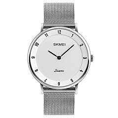 cheap Watch Deals-SKMEI Men's Wrist Watch Japanese Quartz 30 m Water Resistant / Water Proof Cool Stainless Steel Band Analog Casual Fashion Minimalist Silver - Gray Red Blue
