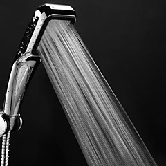 cheap Faucets-Pressure Shower Head 300 Holes With Chrome Square Rainfall Handhold Shower Head Water Saving Sprayer