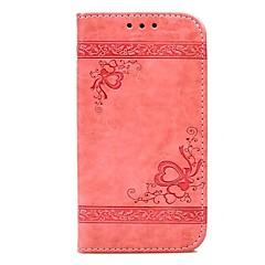 Недорогие Кейсы для iPhone 7 Plus-Кейс для Назначение Apple iPhone X iPhone 8 Plus Бумажник для карт Кошелек со стендом Флип Рельефный Чехол С сердцем Твердый Кожа PU для