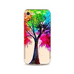 お買い得  iPhone 5S/SE ケース-ケース 用途 Apple iPhone X iPhone 8 Plus クリア パターン バックカバー カラーグラデーション 木 ソフト TPU のために iPhone X iPhone 8 Plus iPhone 8 iPhone 7 Plus iPhone 7
