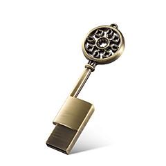 Μεταλλικό κλειδί σχήμα 16gb usb 2.0 flash drive memory stick αδιάβροχο usb flash disk drive αυτοκίνητο χαριτωμένο δώρο με τη συσκευασία
