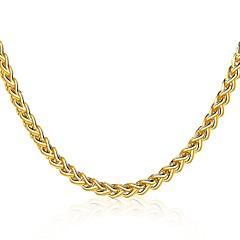Муж. Жен. Ожерелья-бархатки Бижутерия Геометрической формы Позолота Природа Готика Pоскошные ювелирные изделия Массивные украшения