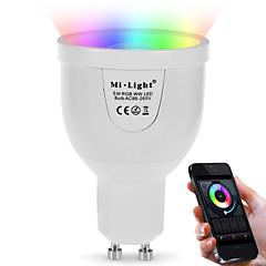 お買い得  LED 電球-1個 5 W 500 lm GU10 LEDスマート電球 A60(A19) 12 LEDビーズ SMD 5730 赤外線センサー / 調光可能 / リモコン操作 85-265 V / 1個