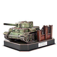 Sets zum Selbermachen 3D - Puzzle Holzpuzzle Spielzeuge Panzer 3D Heimwerken Mann Jungen Stücke
