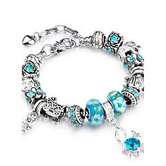 preiswerte Armbänder-Damen Strang-Armbänder - Strass, Rose Gold überzogen Erklärung, Personalisiert, Luxus Armbänder Blau Für Weihnachten Hochzeit Party